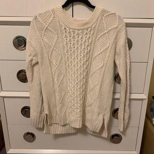Madewell white knit Irish sweater